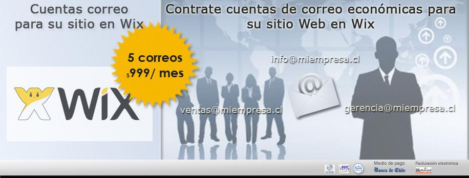 Cuentas de correo corporativas para su sitio web en wix
